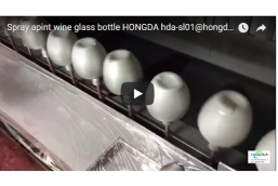 HONGDA electrostatic liquie  spray gun wine glass bottles coating